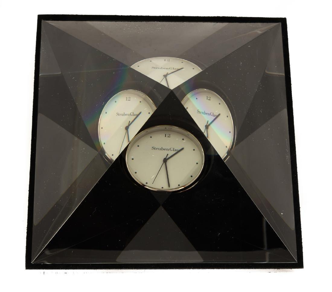 Steuben Pyramid of Time Clock - 2