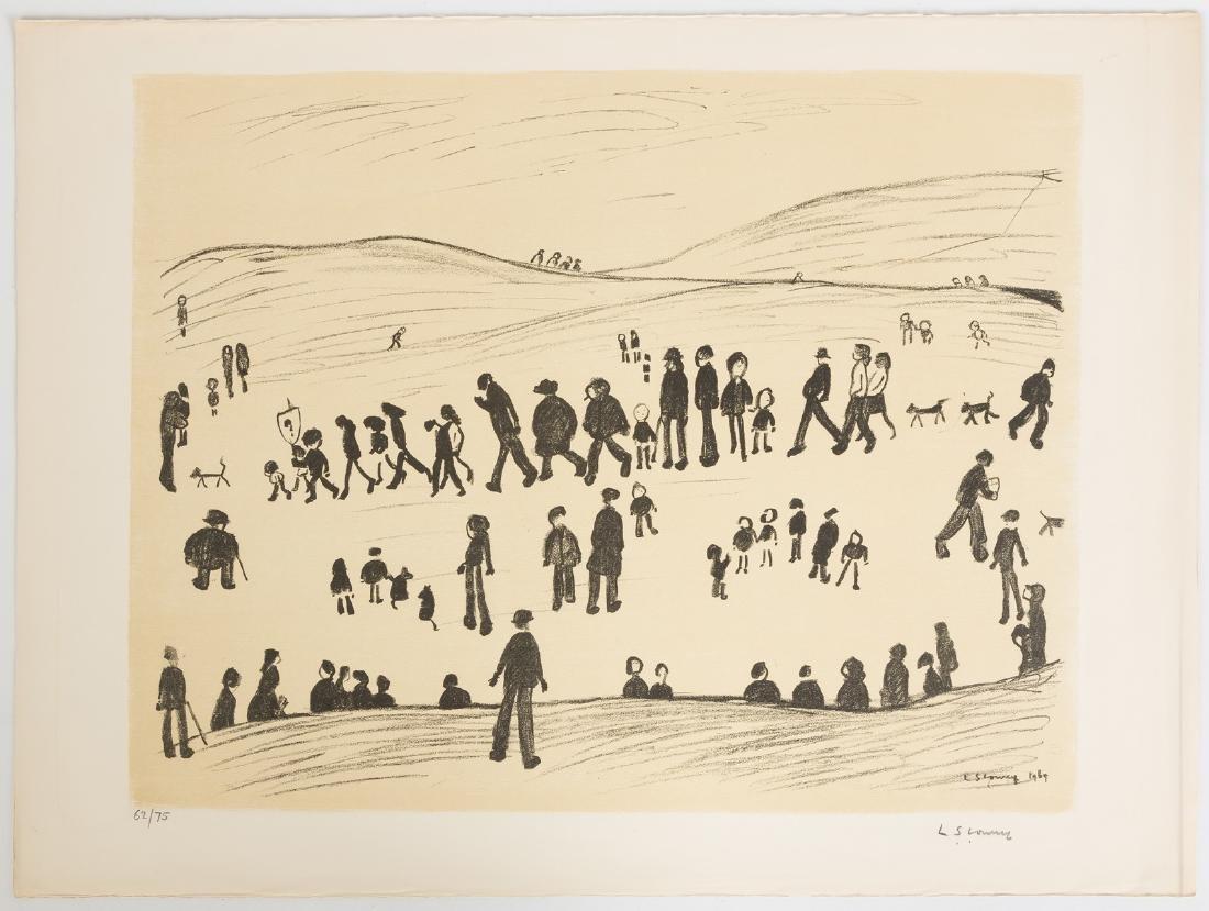 "Lawrence Stephen Lowry (British, 1887-1976) ""Sunday"