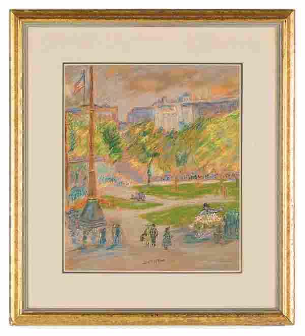 """Jane Peterson (American, 1876-1965) """"Union Square"""""""