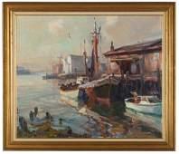 Emile A. Gruppe (American, 1896-1978) Gloucester Harbor