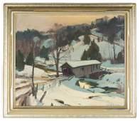 Emile Gruppe (American, 1896-1978) Winter Scene