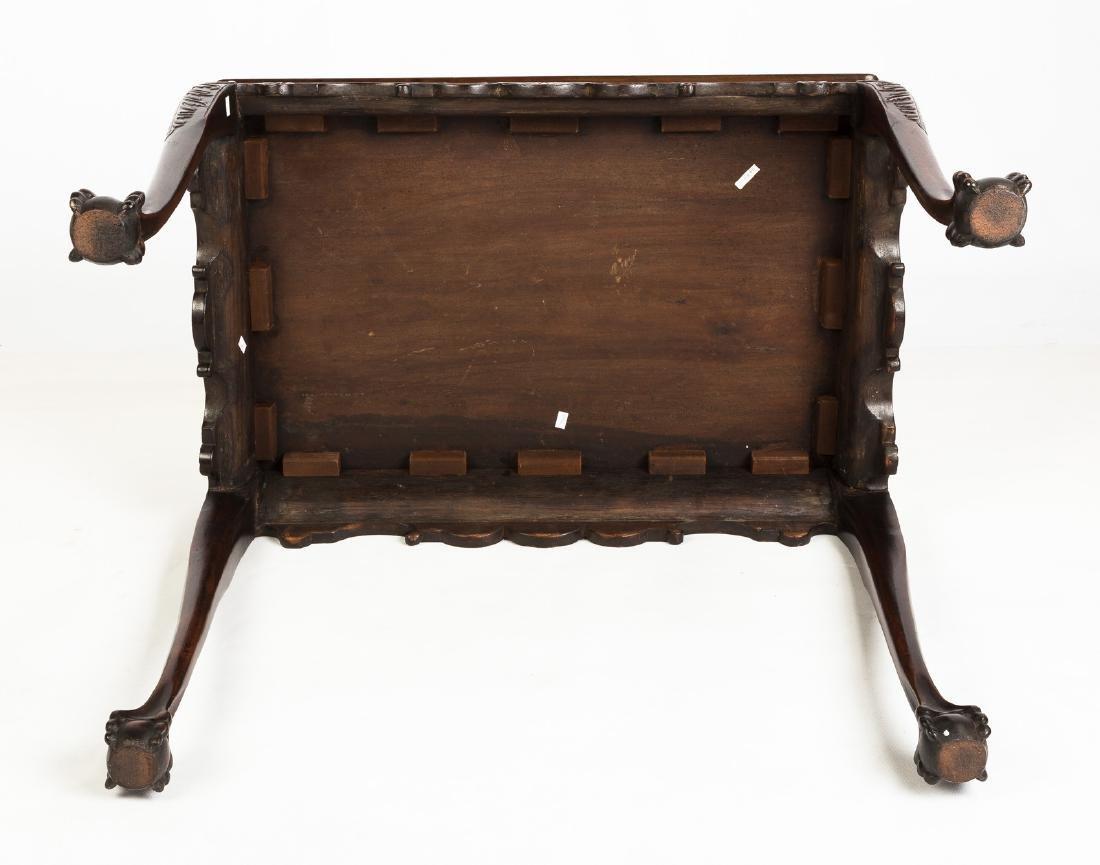 Irish Chippendale Mahogany Tray-top Tea Table - 4