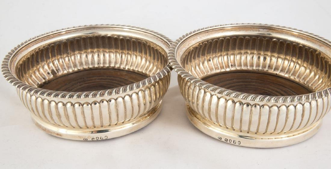 Pair Paul Storr Silver Wine Coasters - 2