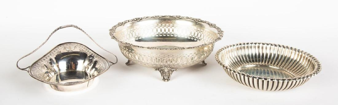 Two Gorham Sterling Bowls and Silver Handled  Basket