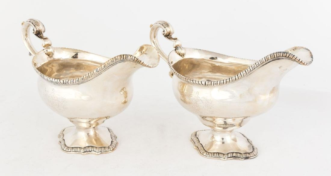 Pair Eliot Silver Sauce Boats