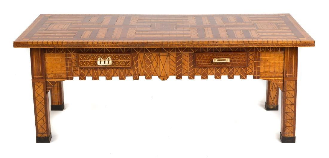 Frederick Heimmer Arts & Crafts Inlaid Coffee  Table