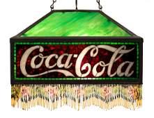Rare Mosaic Coca-Cola Hanging Shade
