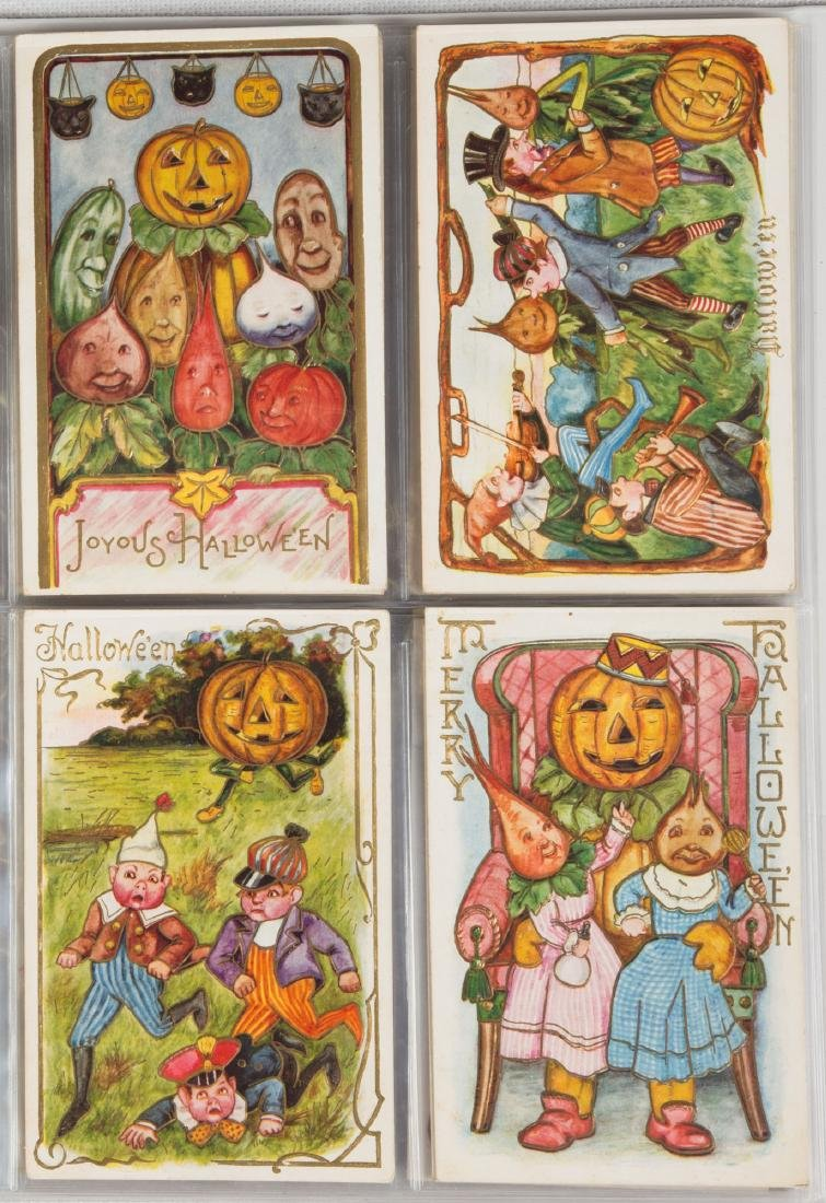 Vintage Halloween Post Cards - 3