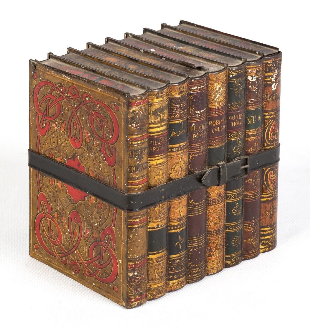 19th Century Toleware Book Tin