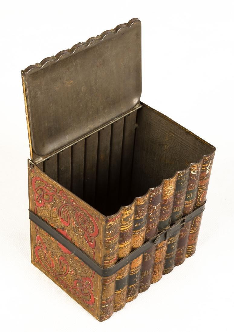 19th Century Toleware Book Tin - 2