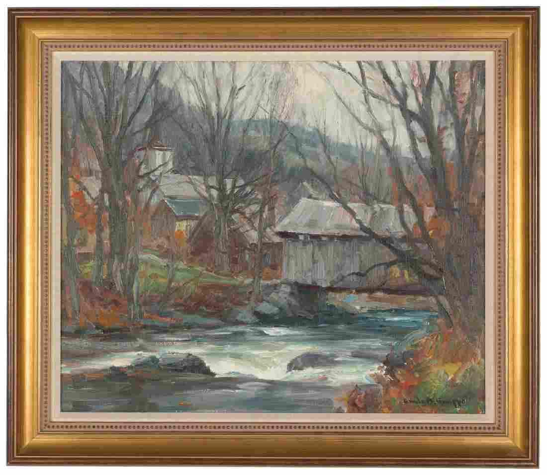 "Emile Gruppe (American, 1896-1978)  ""Trout Stream"" Oil"