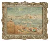 Max Kuehne (American 1860-1968) Oil on Canvas Board