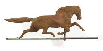 J.W. Fiske (American) Copper Horse Weathervane with