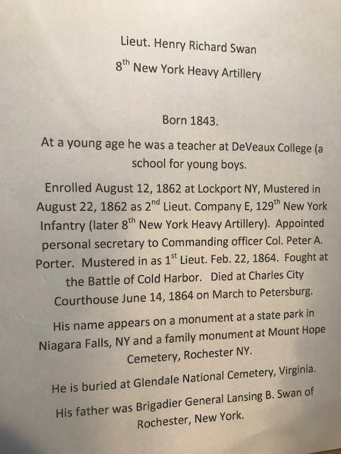 Lieut. Henry R. Swan 8th New York Heavy Artillery - 3