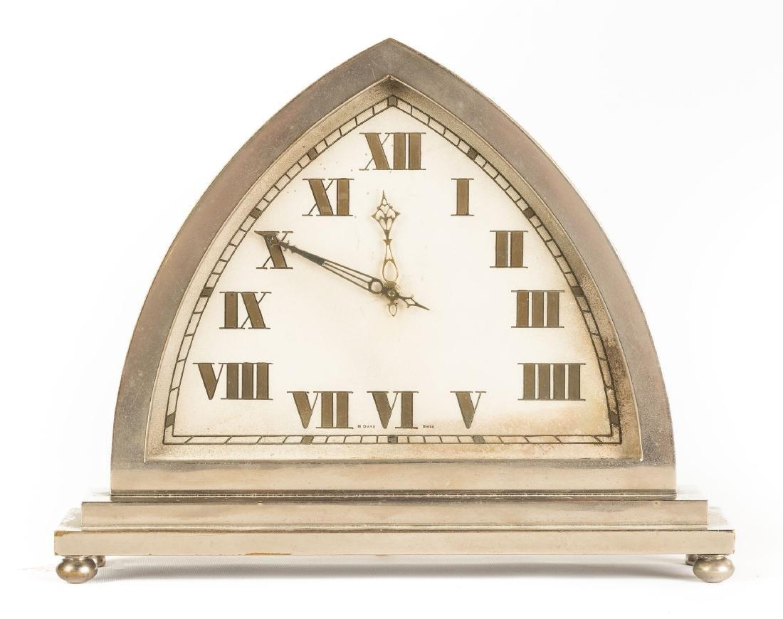 Swiss Art Deco Desk Clock