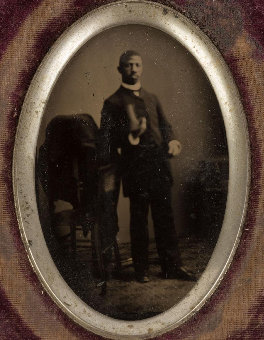 Attr. J. P. Ball,Tin Type of African American Gentleman