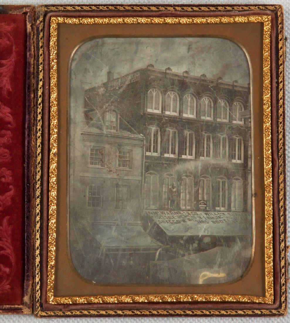 Daguerreotype of Buildings in Philadelphia with Tobacco