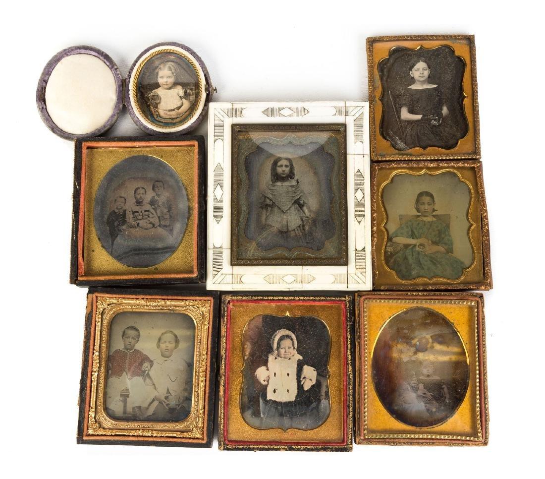 Eight Daguerreotypes of Children