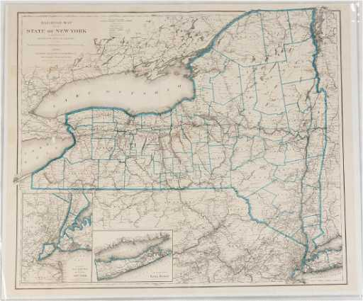 Group Of Historical New York State Maps
