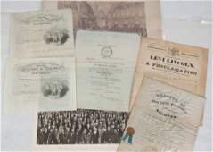 Group of Early Photos Maps and Documents