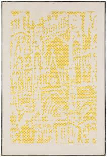 """Roy Lichtenstein (American, 1923-1997) """"Cathedral #1"""""""
