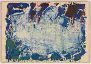 """Sam Francis (American, 1923-1994) """"Happy Death Stone"""""""