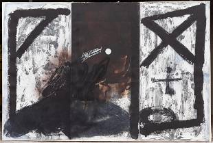 Antoni Tápies (Spanish, 1923-2012) Triptych