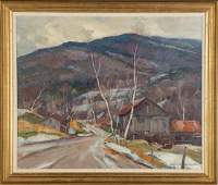 "Emile Albert Gruppe (American, 1896-1978) ""Early Snow"