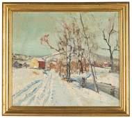 Walter Emerson Baum (American, 1884-1956) Winter Scene
