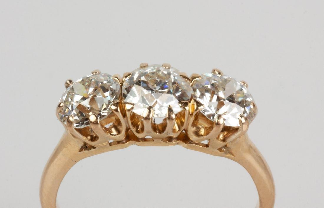 Lady's 14K Gold & Diamond Ring - 2