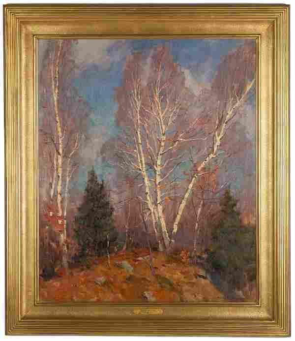 "Emile Gruppe (American, 1896-1978) ""Birches"""
