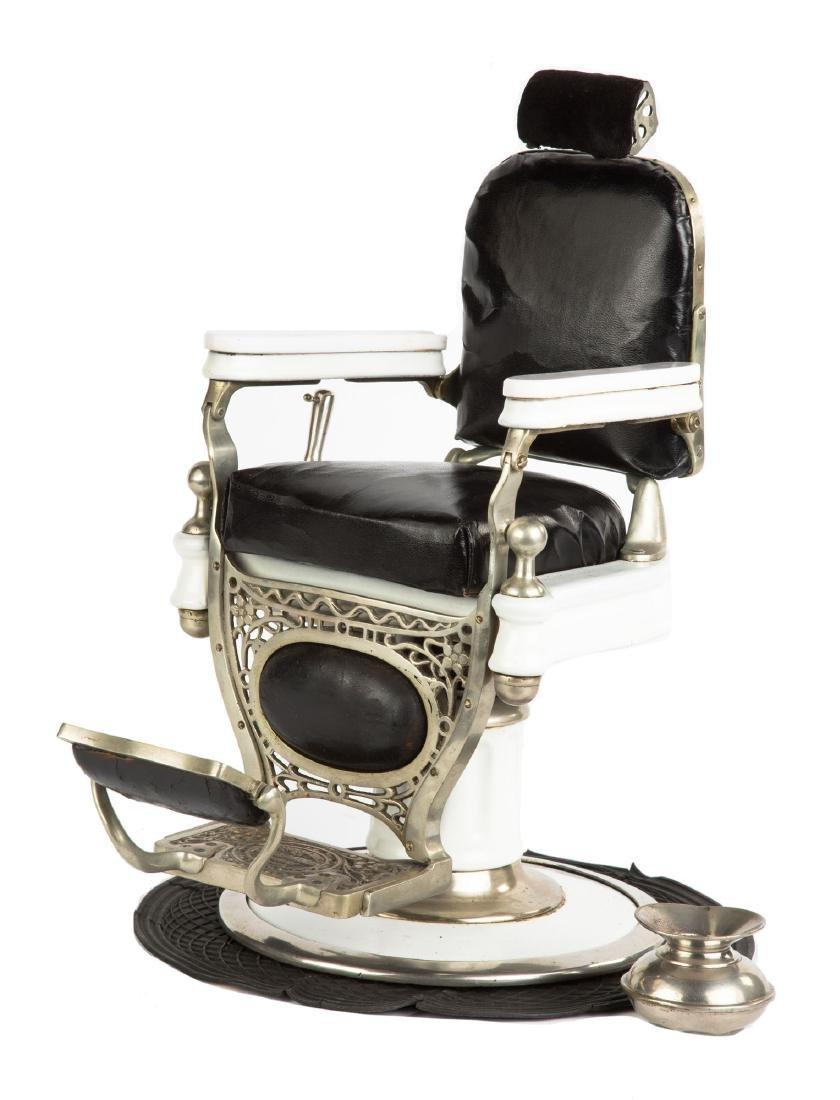 "Rare ""Theo. A. Kochs"" Salesman's Sample Barber Chair"