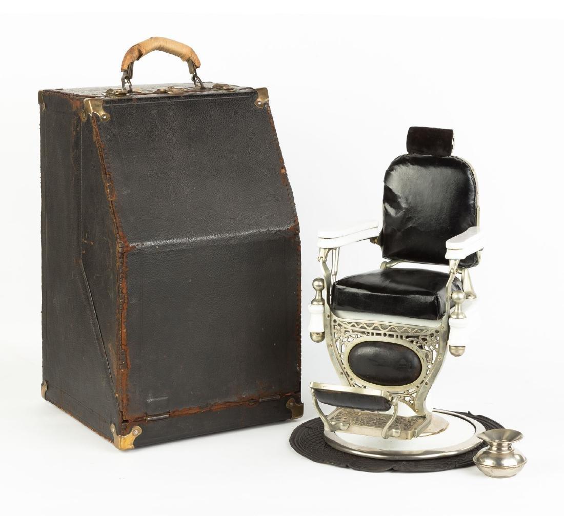 "Rare ""Theo. A. Kochs"" Salesman's Sample Barber Chair - 2"