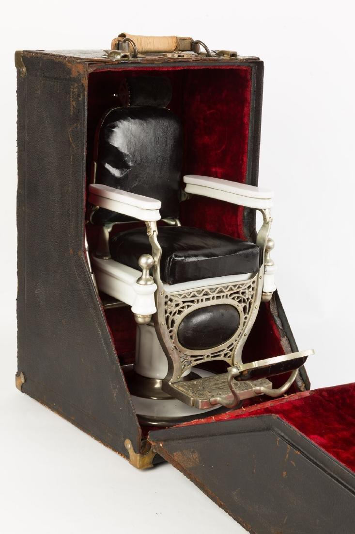 "Rare ""Theo. A. Kochs"" Salesman's Sample Barber Chair - 4"