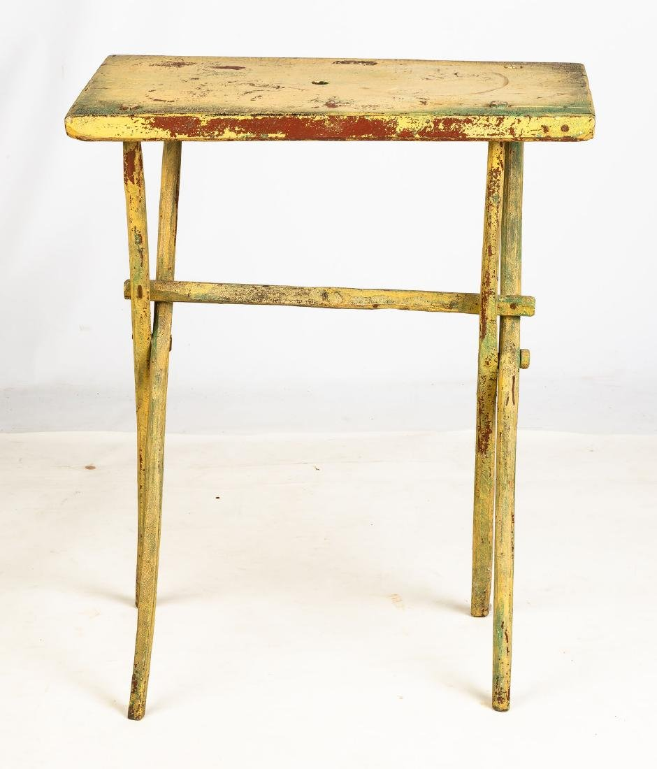 Yellow over Red Candle Stand Base