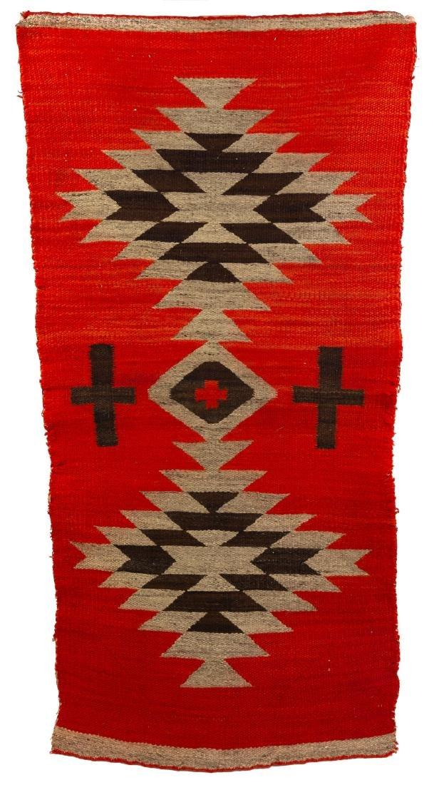 Vintage Navajo Twill Double Saddle Blanket