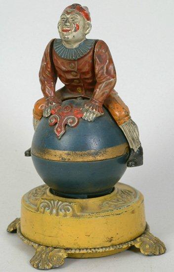 1001: Clown on Globe Mechanical Bank