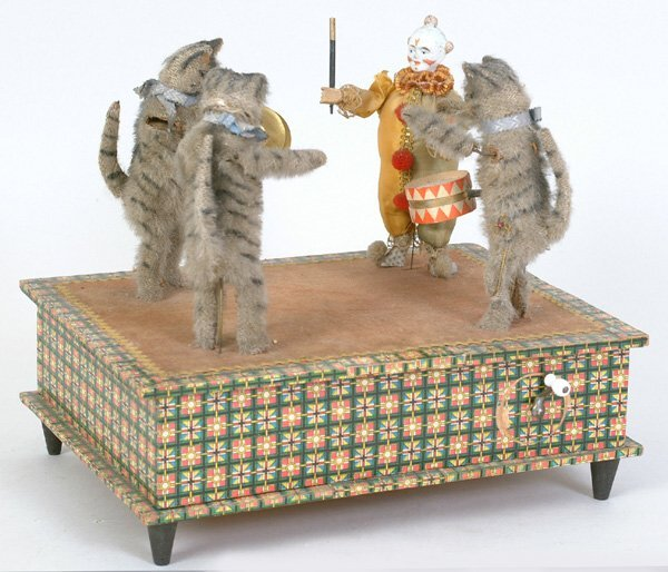 1008: French Musical & Mechanical Cat Band