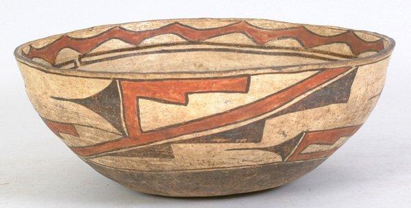 """2002: Zuni Polychrome Dough Bowl, 15 1/2"""""""