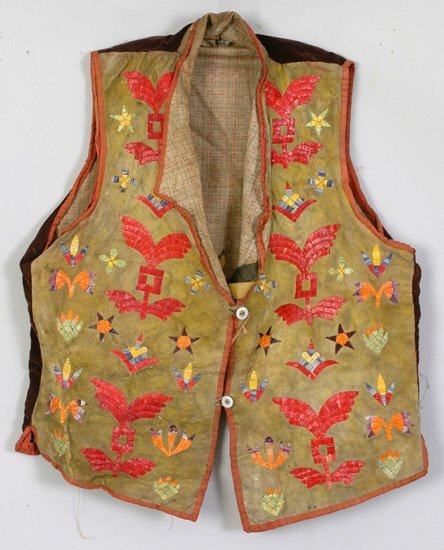 2017: Quilled Leather Vest