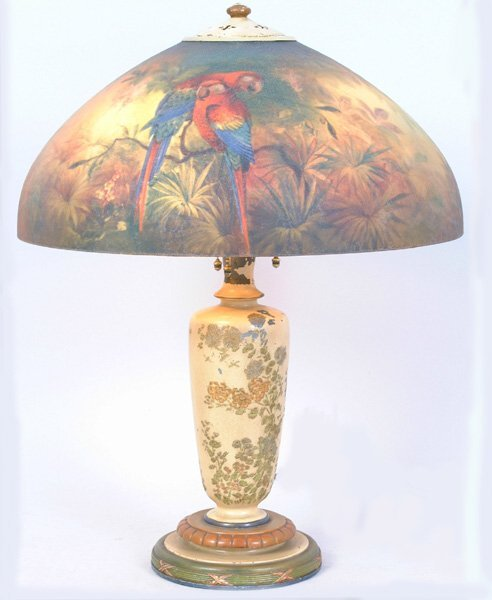 2120: Sgn. Handel Parrot Lamp, #6874