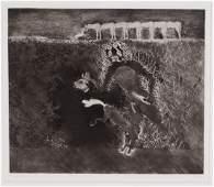 """Francisco Toledo (Mexican b. 1940) """"Brineando (Leap"""