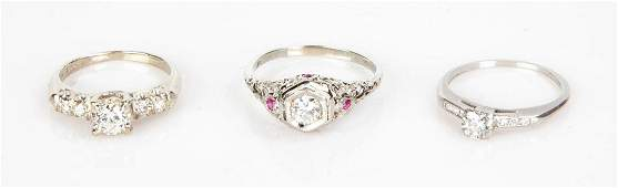 Group of Three Diamond Rings