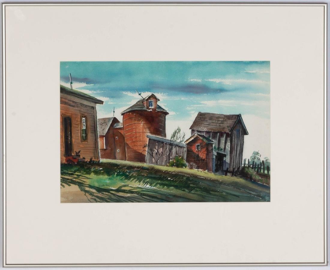 John C. Menihan (American, 1908-1992) Barn Scene