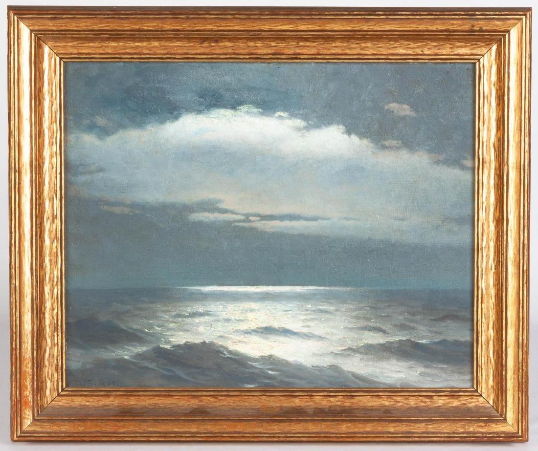 David John Gue (American, 1836-1917) Seascape