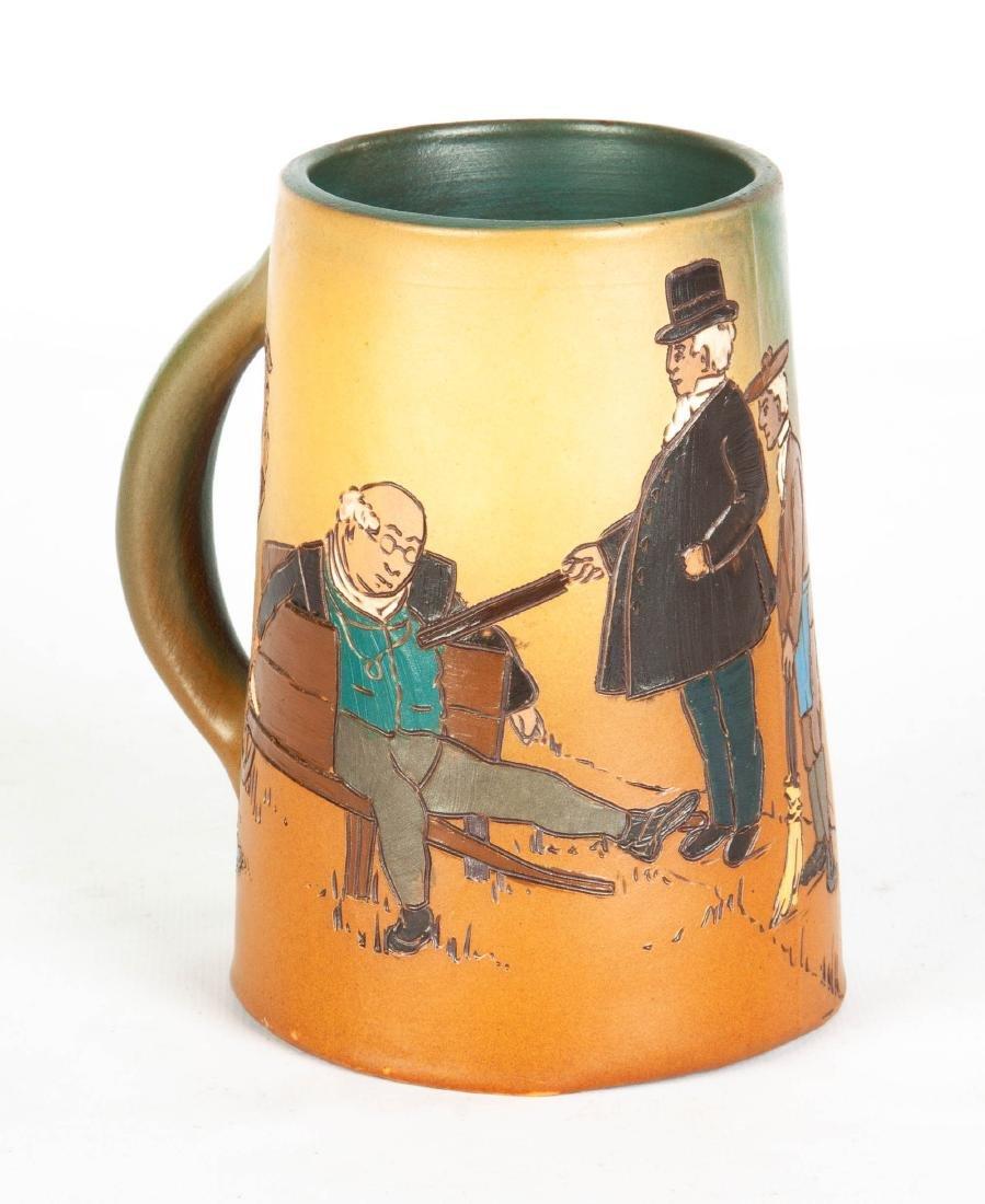 Weller Art Pottery Dickens Ware Pickwick Papers Mug