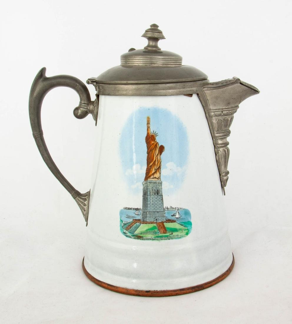 Lot Art | Vintage Enamelware Coffee Pot