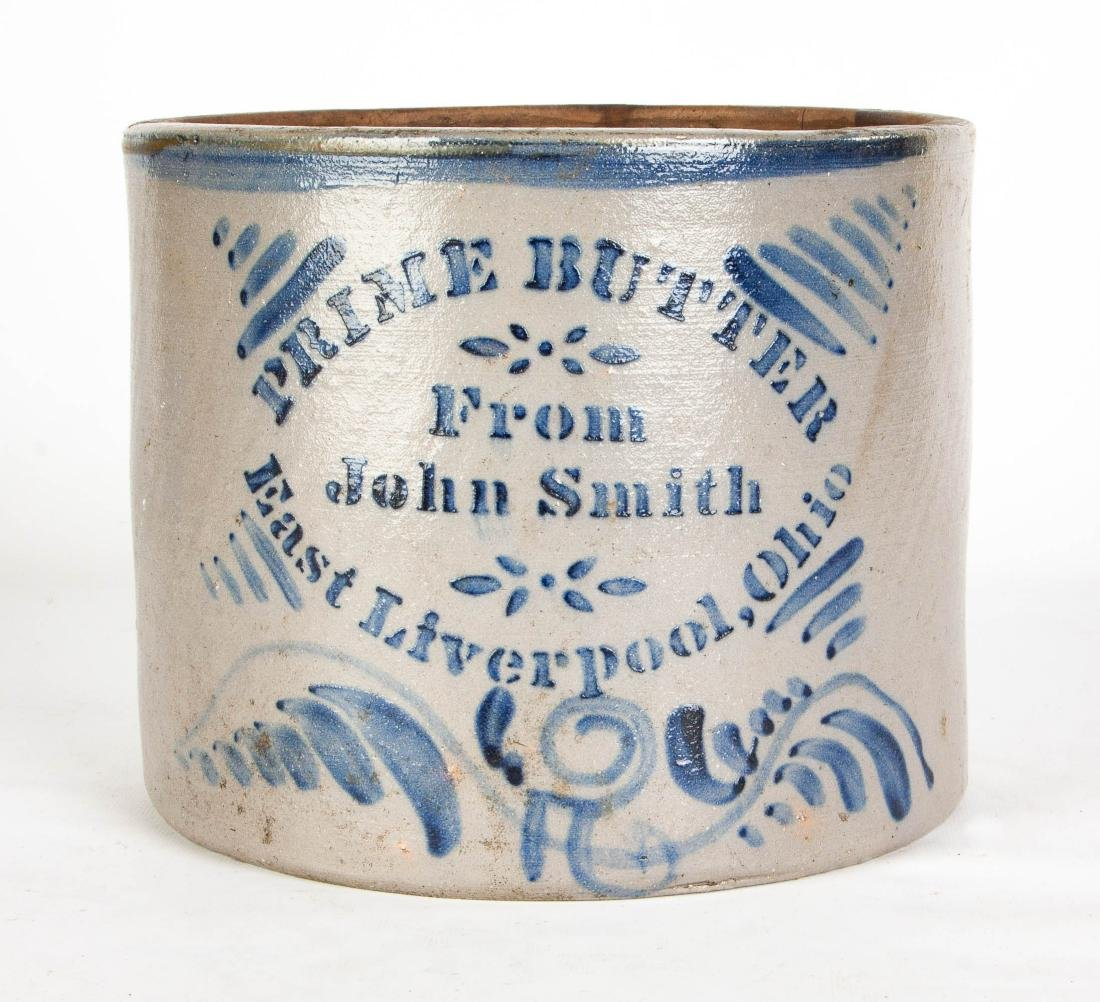 """Prime Butter From John Smith, East Liverpool, Ohio"""