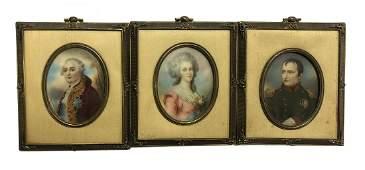 Group of European Portrait Miniatures