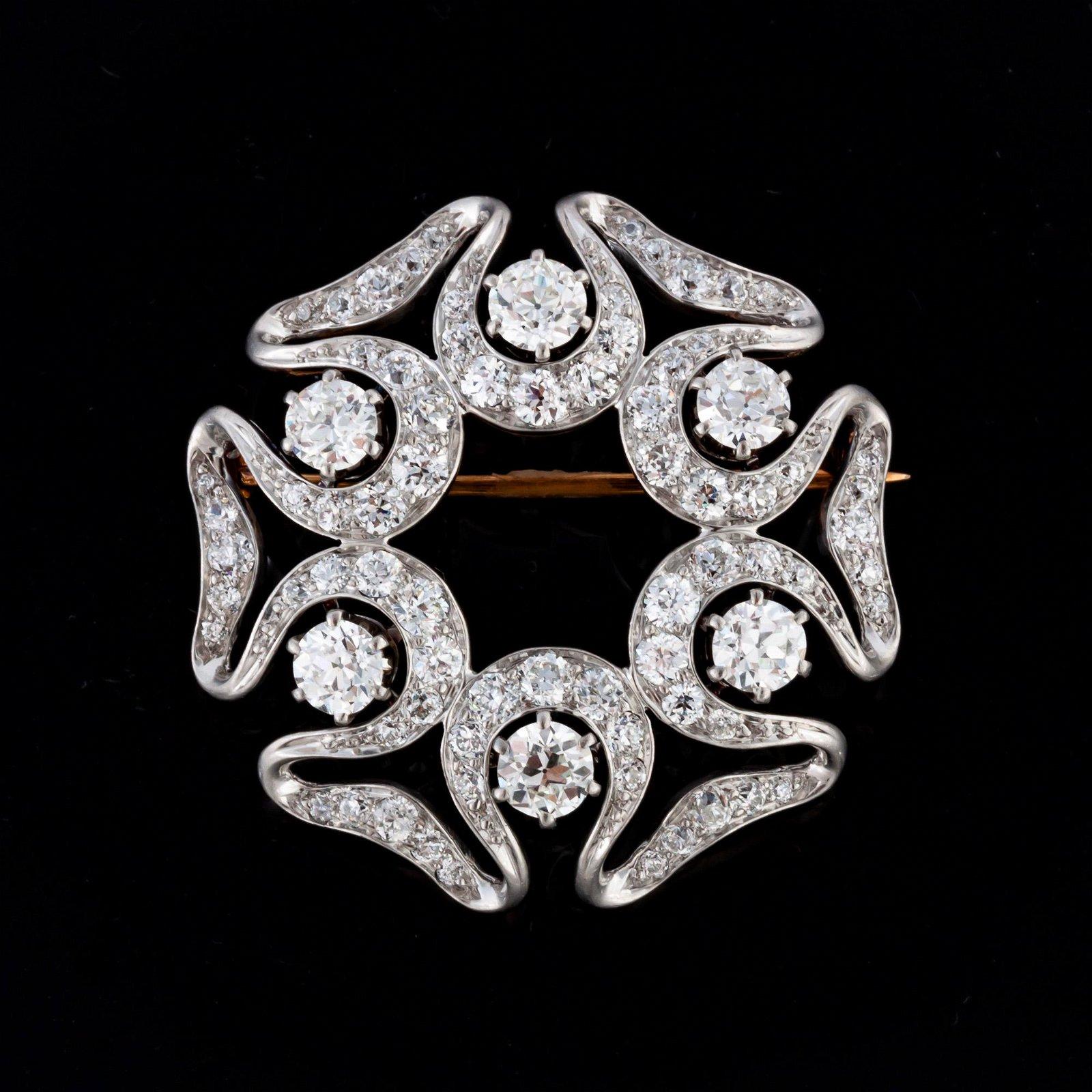 Tiffany & Co. Platinum Vintage Art Nouveau Brooch